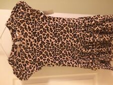 Gymboree CATASTIC Leopard Print Dress 100% Cotton GUC 5 Spring Summer Brown