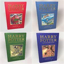 Harry Potter Stone, Chamber, Azkaban, Goblet 1ST PRINTING UK DELUXE SET Rowling