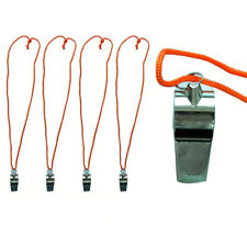 4 Metal Signal Whistle Referee Coach Extra Loud Whistle Survival Safety Sports