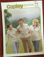 Copley belcanto 9181 knitting pattern v and polo neck sweaters 32-42""
