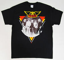AEROSMITH T-shirt Triangle Circle Photo Vintage Hard Rock Tee Adult XL Black New