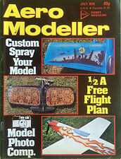 AERO MODELLER - July 1978 - Custom Spray Your Model, Vintage Magazine