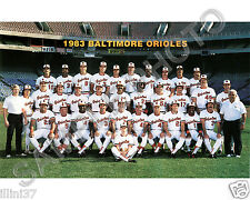 1983 BALTIMORE ORIOLES 8x10 COLOR TEAM PHOTO WORLD SERIES CHAMPIONS