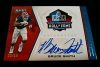 A7 2019 Panini Playoff Football Hall Of Fame Autograph Bruce Smith /10 Bills SSP