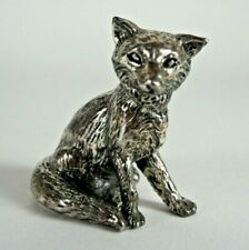 Vtg Royal Hampshire Silver Plated Pewter Fox Ornament Small Miniature Figurine