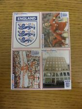 circa 2002 England: Englandfans - Sheet of stickers (No 1-4). Footy Progs/Bobfra