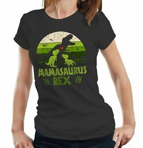 Mamasaurus Rex Tshirt Ladies Fitted - Mothers Day, Mam, Mum, Ma, Dinosaur, Cute