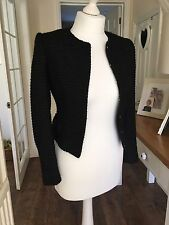 Ted Baker Qutee Black Bow Detail cropped jacket size 0, UK 6, RRP £229