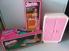 VINTAGE BARBIE 1978 DREAM FURNITURE COLLECTION BED MICROWAVE/OVEN ARMOIRE