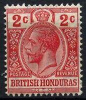 British Honduras 1913-21 SG#102, 2c Red KGV MH #D56980