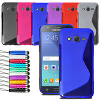 For Samsung Galaxy Core Prime Wave Grip Wave Gel Skin Case Cover + LCD + Stylus