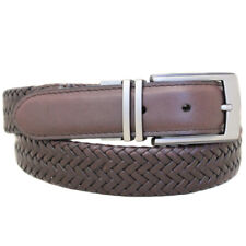 Good Vibe Reversible Braided Leather Belt - Size 34