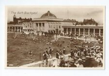 Postcard Bathing Pool Swimming Bath Blackpool Advance RP 1930??