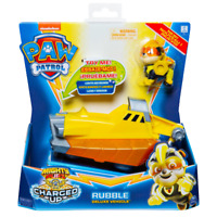 PAW PATROL 6056874 Mighty Pups Charged Up Rubble's Deluxe Vehicle with Lights