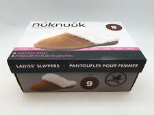 NukNuuk Ladies Leather Slippers: Size 9 | Chestnut (NUK02)