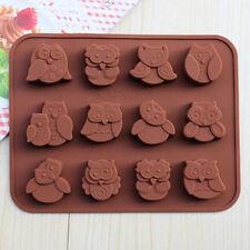 12-gufo del silicone torta decora stampo caramelle biscotti cioccolato stampo fa