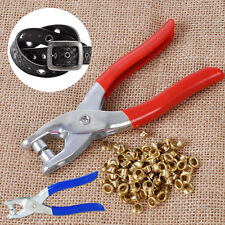Grommet Rivet Eyelet Plier Hole Hand Punch Leather Belt Watch Band Bag Shoe Tool