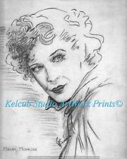 Miriam Hopkins Actress RARE StKenan Art Chicago Artist Print of 1940 Original