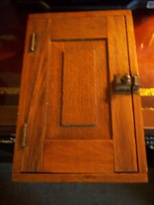 """""""Vintage Oak Wooden Dovetail Amish Hand Made Electrical Box"""""""