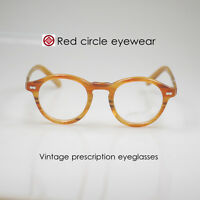 Retro Vintage 1960's Johnny eyeglasses men optical eyewear blonde frames 46