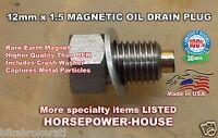 12mm MAGNETIC CRANKCASE OIL PLUG 06-21 KAWASAKI CONCOURS 14 ZG1400 NINJA 10R 14R