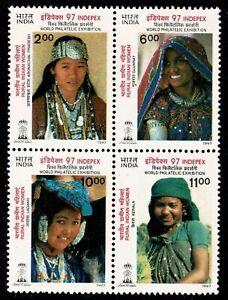 INDIA 1997 1576-1579 block of four Philately MUH