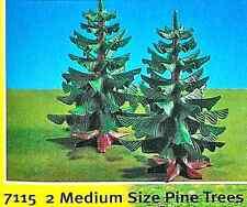Playmobil 7115 - Two Medium Pine Trees - mint in bag - original store stock!