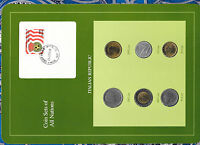 Coin Sets of All Nations Italy 1956 - 1991 UNC 6 coin (RARE) 100 Lire 1956
