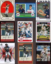 Huge 50 + different JOE MAUER cards lot 2003 - 2018 all Twins