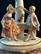Antique Dancing Children Porcelain Lamp, Germany, All New Electrical & Base