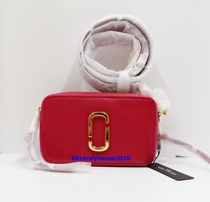 NWT Marc Jacobs Softshot 21 Leather Crossbody Bag ~ Persian Red ~M0017194
