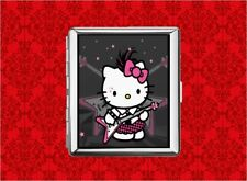 HELLO PUNK KITTY CAT EMO GUITAR METAL WALLET CARD CIGARETTE ID IPOD CASE