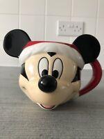 Disney Mickey Mouse Head Shaped 3D Ceramic Mug - New