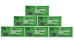 6 BOXES OF Dieters' Drink Bebida Dietetica Natural Leaf Brand Dieters 108 Bag