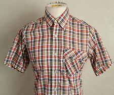 VTG 80s ~ Levis ~ Thin Short Sleeve Shirt ~ Plaid/Tapered/Indie ~ USA Made ~ M/S