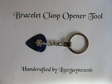 CHARM BRACELET CLASP OPENER TOOL KEY RING FLOWER CHARM SNAKE BRACELET