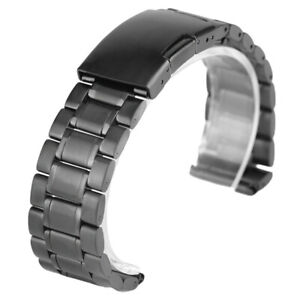 Bracelet Clasp Men Wrist Band Strap 18/20/22mm Solid Link Stainless Steel