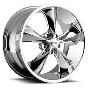 """Staggered-Foose F105 Legend 20x8.5,20x10 5x4.75"""" +7mm Chrome Wheels Rims"""
