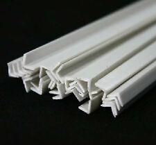 10pcs ABS Styrene Plastic L Shape Right Angle Bars 3mm*3mm*250mm White #EGP9