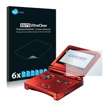 6x Savvies protector de pantalla para Nintendo Gameboy Advance GBA SP Transparen