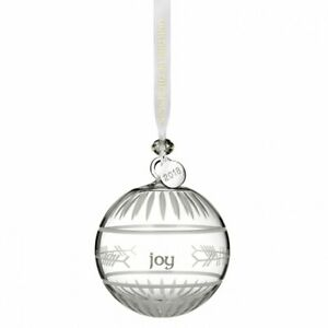 WATERFORD Glass Ogham Ball Ornament Christmas Tree Decoration RRP £60