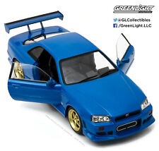 Greenlight 1/18 1999 Nissan Skyline GT-R R34 Blue 19032 New ACME GMP