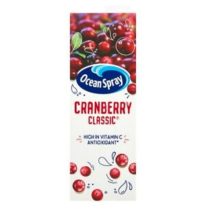 Ocean Spray Cranberry Classic Juice Drink 1L x 6 Cafe Takeaway Catering