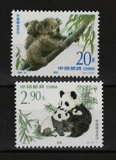 Panda Koala Set di 2 MNH Francobolli 1995 Cina #2597-8 Congiunto con Australia