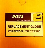 DIETZ GLASS REPLACEMENT GLOBE-Lantern-Part No.208-51003-NEW-for #1 Little Wizard