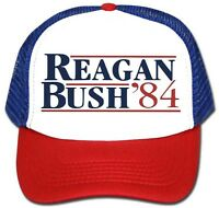 Retro REAGAN BUSH 84 HAT CAP Republican Political President Vintage Style