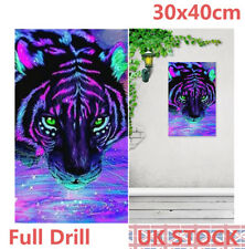 Full Drill Color Tiger 5D Diamond Painting Embroidery Cross Stitch Craft Kit UK