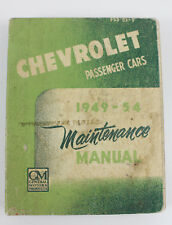 Chevrolet passenger cars 1949/54 large workshop manual