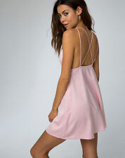 Nasty Gal Motel Cotty Slip Dress in Dusky Pink Satin Size XS NWT