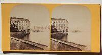 Lac Maggiore Borromeo Italia Stereo Vintage Albumina Ca 1870